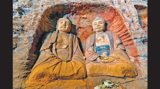 Painted Buddha statues in the Yungang Grottoes in the Shanxi Province in China. New digs around the world are offering startling new insights about the spread, reach and influence of Buddhism over the centuries. (Shutterstock)