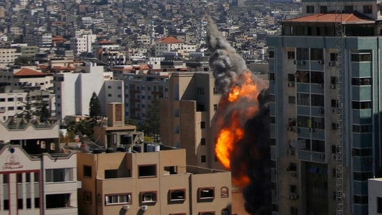 An Israeli airstrike has hits the high-rise building that housed The Associated Press' offices in Gaza City.(AP)