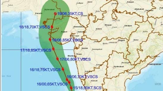 Cyclone Tauktae is likely to move north north-westwards and cross the Gujarat coast between Porbandar and Naliya as a very severe cyclonic storm around May 18 afternoon or evening. (CYCLONE TRACKER:IMD.)
