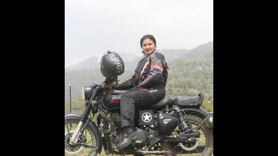 """""""People are often more helpful when I take off my helmet,"""" says Dahal, 27."""