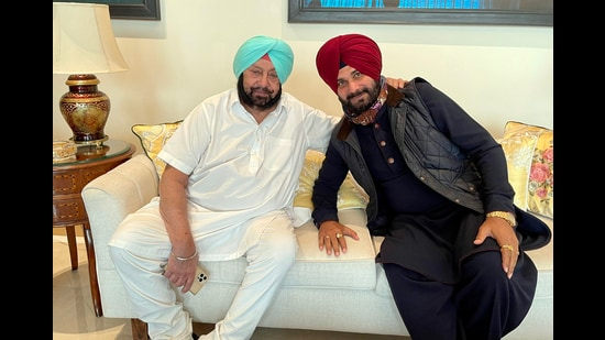 Navjot Singh Sidhu has been hitting out at chief minister Capt Amarinder Singh almost daily through social media on different issues. (ANI)