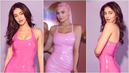 Ananya Panday channels Kylie Jenner(Instagram/ananyapanday and Splash News)