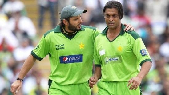 Shahid Afridi and Shoaib Akhtar. (Reuters)