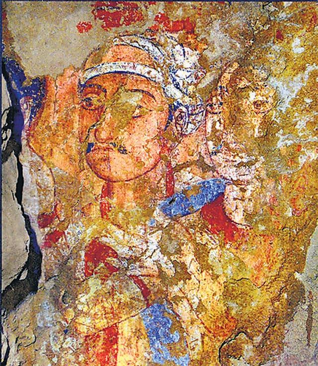 The Termez Mural in Uzbekistan.