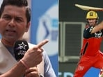 File Photos of Aakash Chopra (left) and AB de Villiers.(HT Collage)
