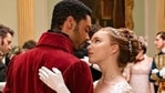 Regé-Jean Page and Phoebe Dynevor star as the Duke of Hastings and the debutante Daphne in Bridgerton. (Netflix)