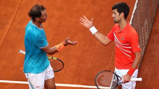 Novak Djokovic and Rafael Nadal (left)(Twitter)
