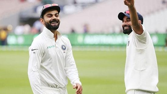 Mohammed Shami with India captain Virat Kohli.(Getty Images)