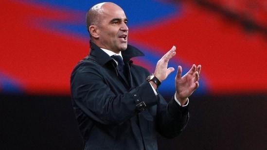 Belgium coach Roberto Martinez; File photo(Pool via REUTERS)