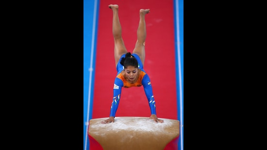 Pranati Nayak, who hails from West Bengal, will represent India in gymnastics, at the Tokyo Olympics this year. (Photo: Getty Images)