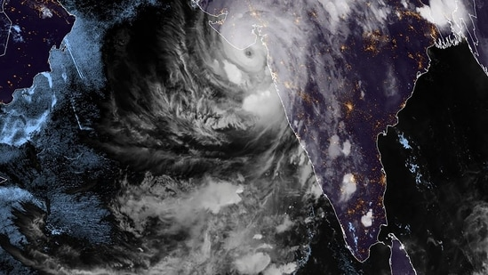 A major cyclone packing ferocious winds and threatening a destructive storm made landfall in Gujarat on Monday evening, disrupting the country's response to its devastating Covid-19 outbreak. (AFP)