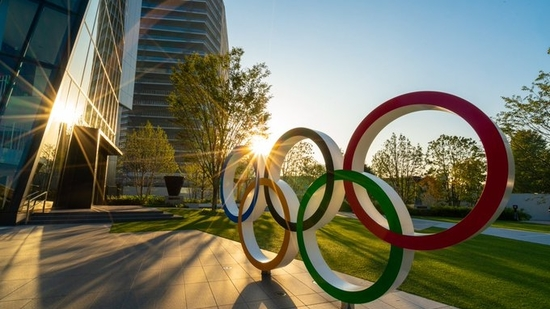 File Photo of the Olympics Rings structure in Tokyo, Japan.(Twitter)