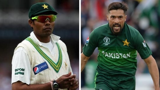 Danish Kaneria and Mohammad Amir. (Getty Images)