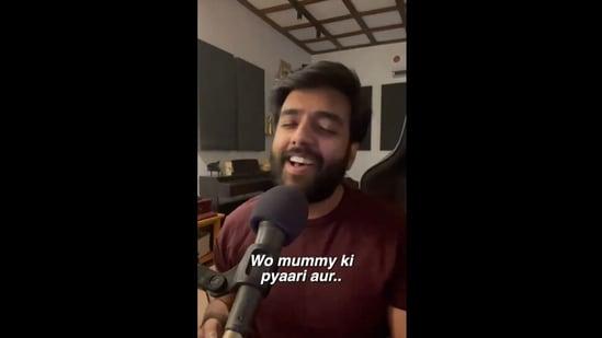 A still from Yashraj Mukhate's new video. (Instagram/Yashraj Mukhate)
