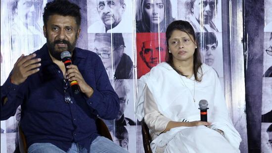 Vivek Agnihotri and Pallavi Joshi