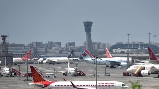 Planes are seen parked at Mumbai airport (File Photo)