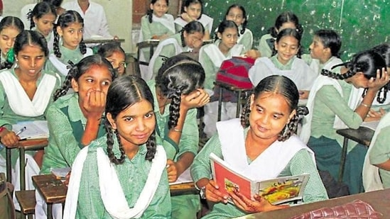In order to ensure that the entire process, including submission of applications, scheduling of on-ground inspections and disposal of each application for granting recognition to private schools, is done in a transparent manner, the process has been made live on state government's Prerna website.(JS Grewal/HT file)