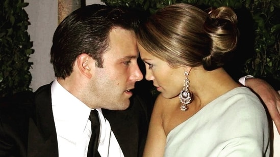 An old photograph of Ben Affleck and Jennifer Lopez from when they were engaged. (Instagram)