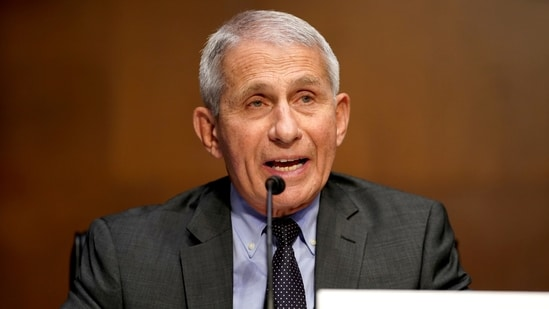 Dr Anthony Fauci said that the results are very encouraging regarding protection against the known SARS-CoV-2 variants.(Reuters)