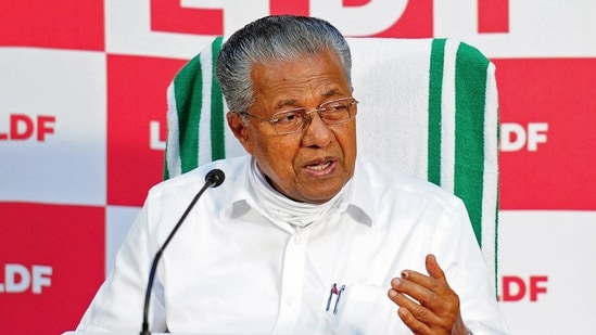 Chief Minister of Kerala Pinarayi Vijayan addresses a press conference after winning the party in Kerala Polls at Kannoore, in Dharmadom. (ANI Photo)