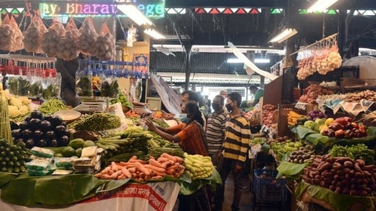 In sharp contrast, retail inflation eased to a three-month low of 4.29% in April, data released last week showed.(Shankar Narayan/HT file photo. Representative image)