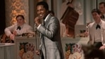 This image released by Amazon Studios shows Leslie Odom Jr. in a scene from One Night in Miami. (AP)