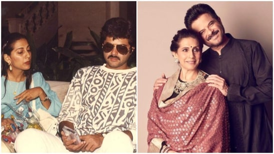 Actor Anil Kapoor and wife Sunita Kapoor celebrated their marriage anniversary.