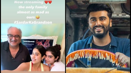 Arjun Kapoor's family and girlfriend Malaika Arora watched his new film on Netflix.
