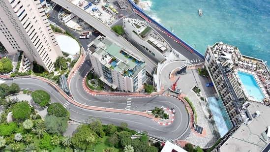An aerial view of the circuit in Monaco.(Twitter)