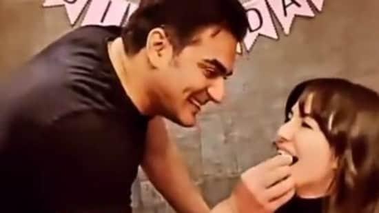 Arbaaz Khan with girlfriend Giorgia Andriani.