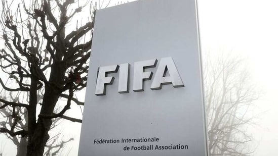 FIFA's logo in front of its headquarters in Zurich.(REUTERS)
