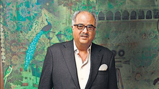 Fortunately, there was no casualty and no one was injured. Luckily all 40-50 people who were on the set, were fine, says Boney Kapoor. (PHOTO BY MANOJ VERMA/HINDUSTAN TIMES)