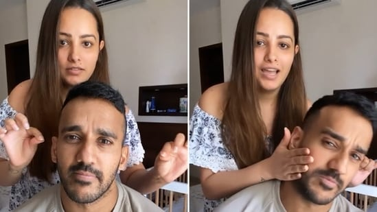 Anita Hassanandani pranked her husband Rohit Reddy in a new video.
