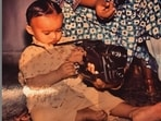 Babil has shared an unseen throwback picture from his childhood.