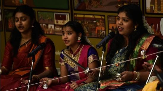 A performance during Tamil heritage celebrations at University of Toronto's Scarborough campus in 2019. (UTSC)