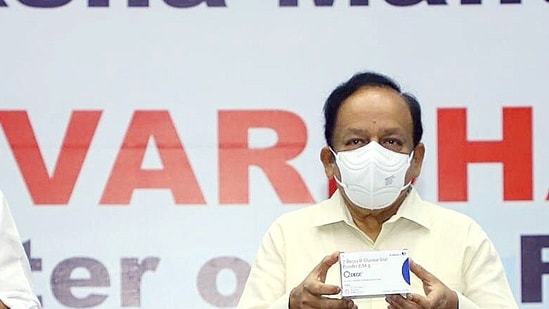 The health minister said that Ramdev's recent statements have hurt the statements of doctors and frontline workers who are fighting against the Covid-19 pandemic. (HT Photo)