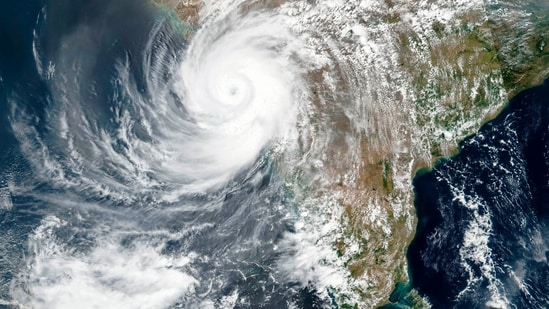 The powerful cyclone that emerged in the Arabian Sea made landfall on India's western coast on Monday.(AP)