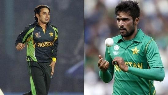 Saeed Ajmal (L), Mohammad Amir (R)(HT Collage)