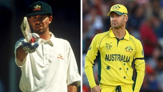 Ricky Ponting and Michael Clarke. (Getty )