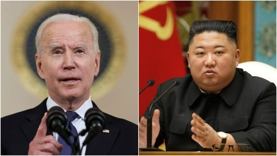US President Joe Biden on Friday said he would meet North Korean leader Kim Jong Un under the right conditions.(Reuters)