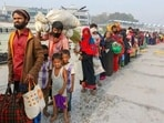 Bangladesh is keen to see the Rohingya go back to Myanmar from the huge camps (AP Photo, File)(AP)
