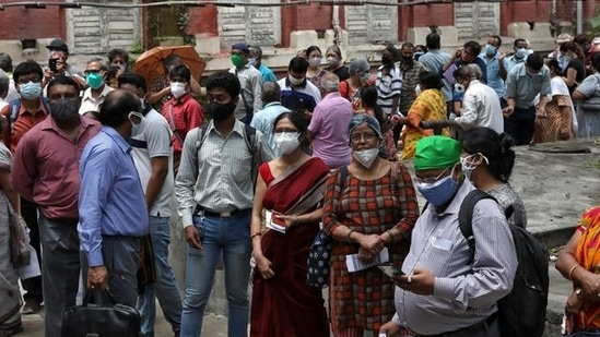 The active cases in India have also declined to 2,720,716 and account for 10.17% of the caseload.(Reuters file photo)
