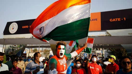 Cricket fans cheer for their teams(PTI)