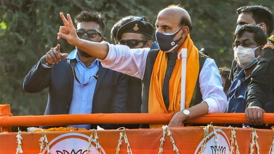 Rajnath Singh first became education minister in 1991 when the Bharatiya Janata Party (BJP) formed its first government in Uttar Pradesh.(PTI file photo)