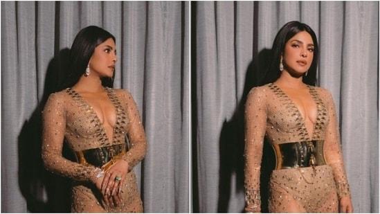 Priyanka Chopra in custom-made Dolce and Gabbana(Instagram/priyankachopra)