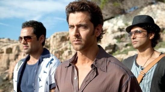 Hrithik Roshan, Abhay Deol and Farhan Akhtar played three friends in Zindagi Na Milegi Dobara.