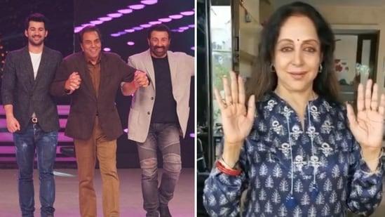Karan Deol showered praise on Hema Malini.