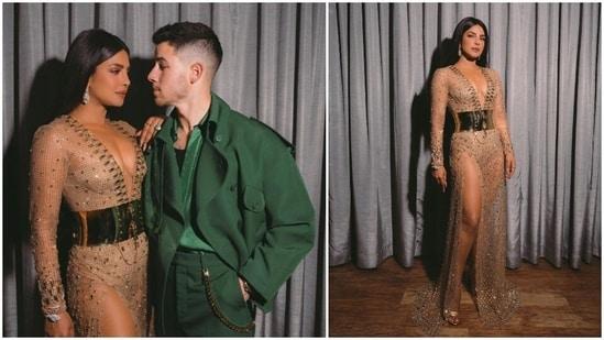 Priyanka Chopra and Nick Jonas arrived together at the Billboard Music Awards 2021 on Monday morning.