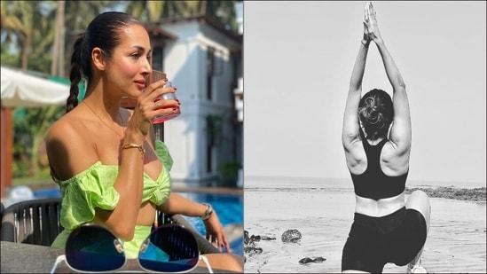 Shoulders stiff from desk job? Try Yoga's Virabhadrasana I like Malaika Arora(Instagram/malaikaaroraofficial)