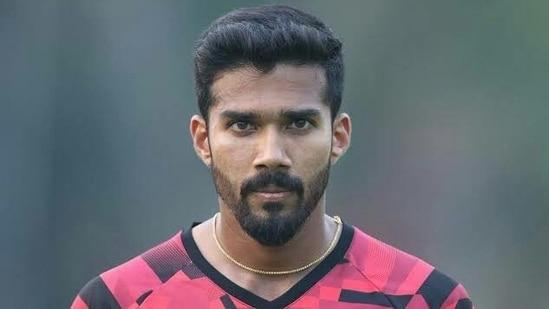 KKR bowler Sandeep Warrier(Twitter)